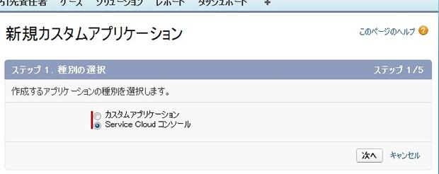 新規カスタムアプリケーション ~ Salesforce - Developer Edition