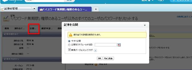 ドラフト記事の詳細  - Service Cloud コンソール