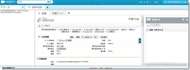ケース  00001029 - Service Cloud コンソール