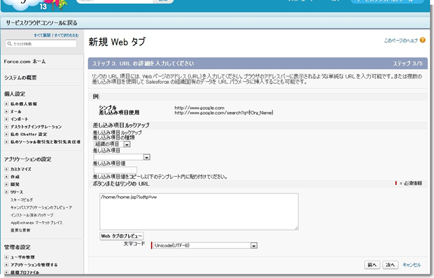 新規 Web タブ ~ Salesforce - Developer Edition_2